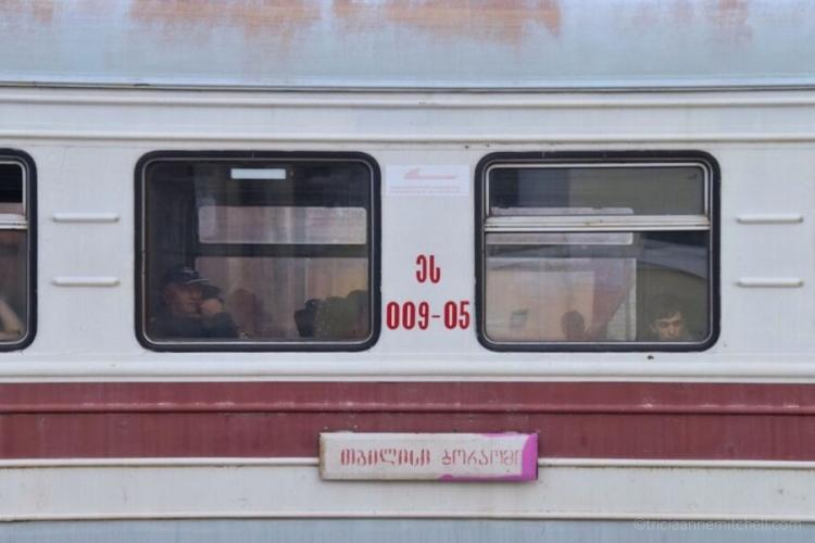 Georgian Railway train in Georgia
