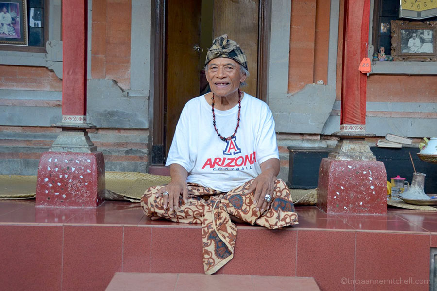 Ketut Liyer sitting at home in Bali