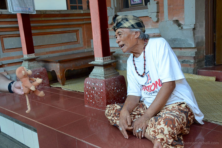 Ketut Liyer at his home in Ubud, on the island of Bali.
