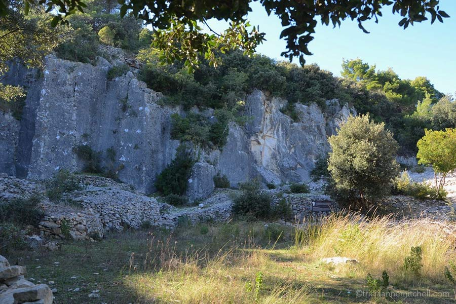 The Rasohe Quarry on Brac island, partly in shadow.
