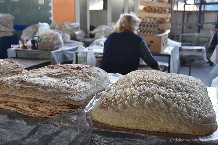 Lavash for sale at Yerevan's GUM Market.