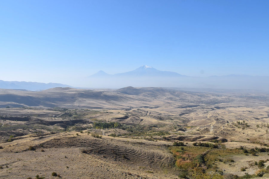 Mount Ararat, off in the distance.